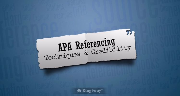 APA Style Reference Techniques & Credibility
