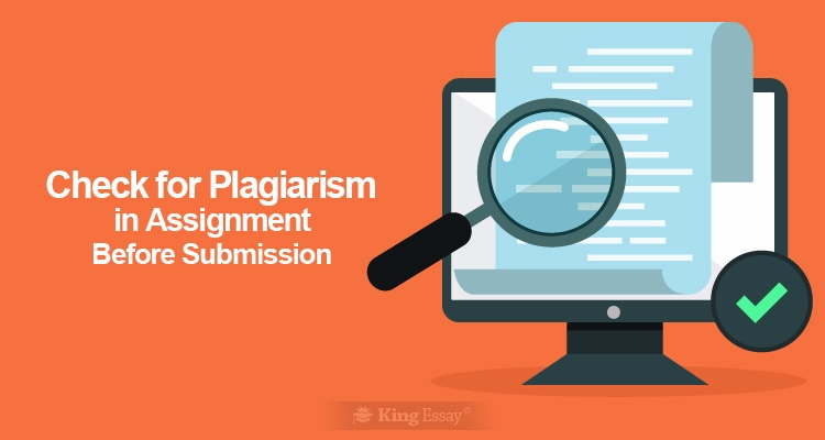 Check for Plagiarism in Assignment Before Submission