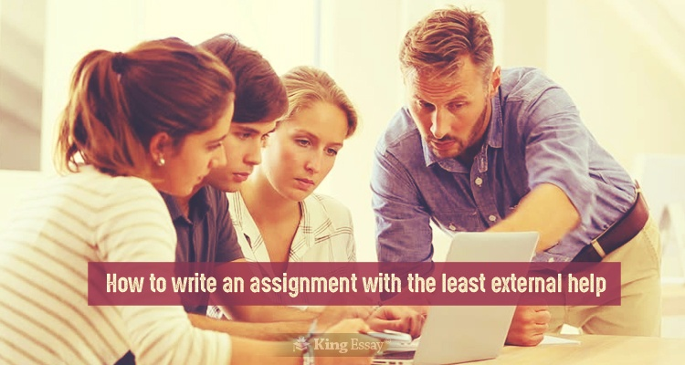 Write an Assignment with the Least External Help