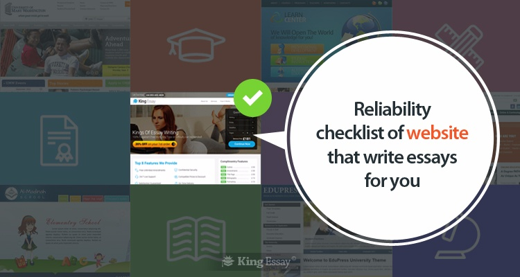 Reliability Checklist of Website that Write Essays for You